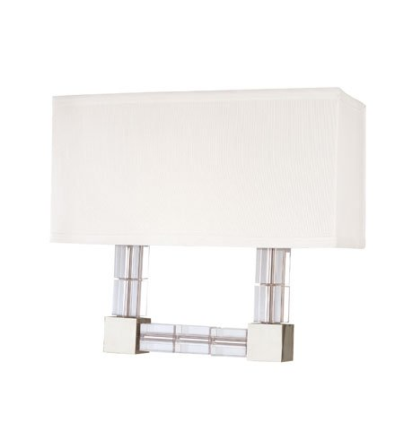 Hudson Valley 7102-PN, Alpine Candle Wall Sconce Lighting, 2 Light, 80 Total Watts, Nickel
