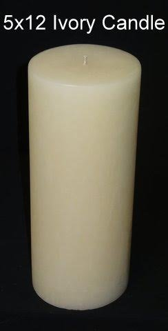 Cheap Pillar Candle – Ivory, 5×12, Unscented, Hand Poured