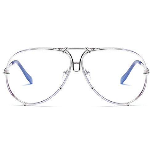 de y Plata el moda marco de mujeres los clásicas hombres sol la Yefree para las Gafas de metálico w6qAvA