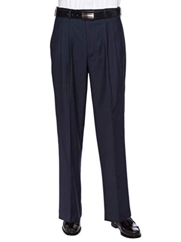 GIOVANNI UOMO Mens Pleated Front Expandable Waist Dress Pants