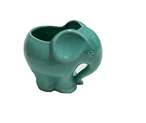 Youfui Cute Succulent Planter Animal Shaped Flower Pot Decor for Home Office Desk (Blue (Ceramic Elephant Planter)