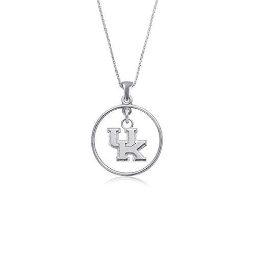 (University of Kentucky Wildcats UK Sterling Silver Jewelry by Dayna Designs (Open Drop Necklace))