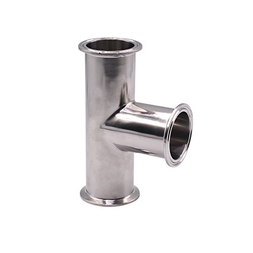 (DERNORD Clamp Tee 3 Way Stainless Steel 304 Sanitary Fitting Fits 2