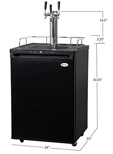 Kegco Full-Size Digital Homebrew Kegerator Triple Faucet Ball Lock Keg Dispenser Black by Kegco (Image #2)