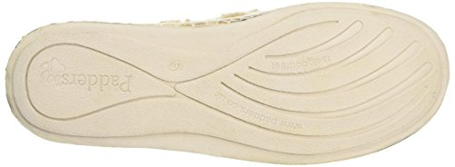 Padders Luxury, Zapatillas de Estar por Casa para Mujer, Blacks Beige (30 Buff Combi)