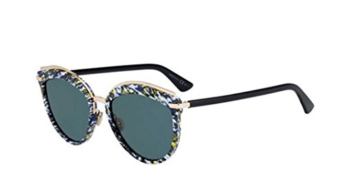 New Christian Dior OFFSET 2 9N7 2K Blue Tweed Pattern Black/ Grey - Offset Sunglasses