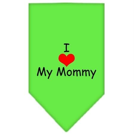 Mirage Pet Products I Heart My Mommy Screen Print Bandana for Pets, Large, Lime Green (Bandana Screen Print)
