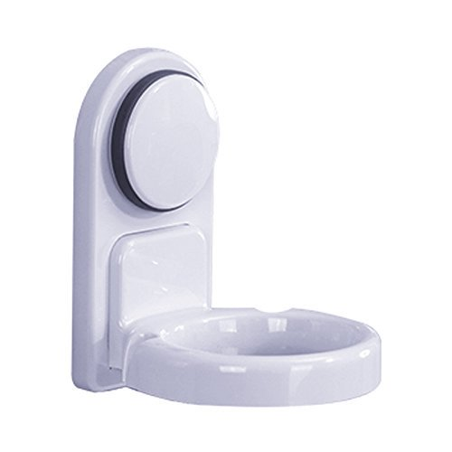 Bathroom Wall Mounted Hair Dryer Holder with Suction Cup Hair Dryer Organizer Shelf In Bathroom Storage Holders & Racks Bathroom Series