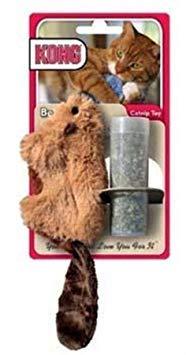 KONG Beaver Refillable Catnip Toy (Colors Vary). Fabric, Soft, Catnip