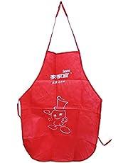 مريلة مطبخ مطبوعة مقاومة للماء - أحمر