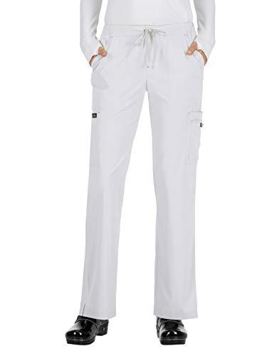 KOI Basics Women's Holly Scrub Pants White SP