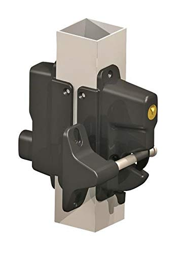 Keystone Black Nylon Polymer Key-Lockable Latch | 2 Sided | Keyed Alike | KLADV-P2-BK-KA ()