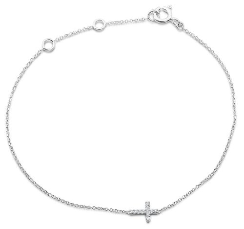 Miore - MY006B - Bracelet Femme - Or Blanc 9 Cts 375/1000 0.8 Gr - Diamant