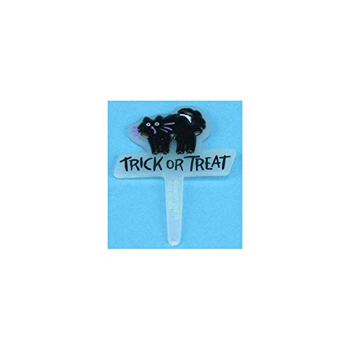 Dollhouse Miniature Halloween Lawn Signs, Assorted -