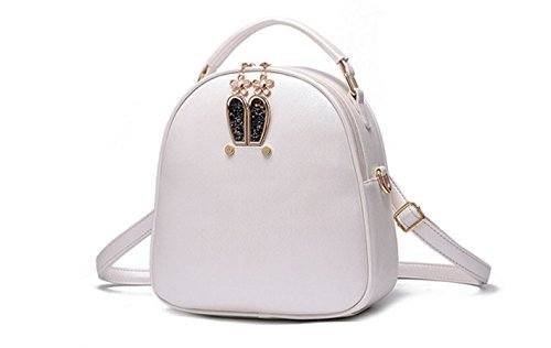 Women Fashion Travel Girls Satchel Shoulder By Fashion Small Fresh Ms Lovely Backpack Personality Candy,White-OneSize