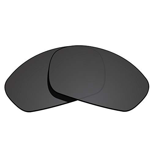 (Glintbay 100% Precise-Fit Replacement Sunglass Lenses for Oakley Monster Dog - Polarized Advanced Black)