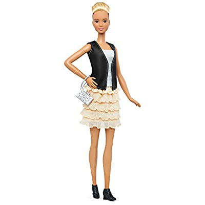 Barbie Fashionistas & Fashions Leather & Ruffles Doll, Tall Blonde: Toys & Games