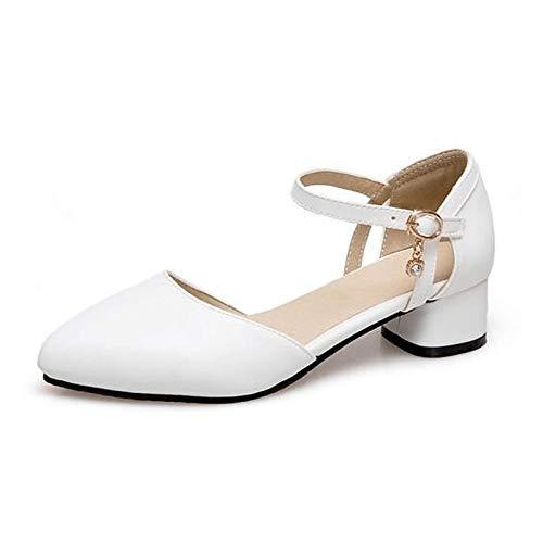ZHZNVX Zapatos de Mujer PU (Poliuretano) Spring Comfort Heels Chunky Heel Black/Blue / Pink Black