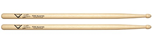 Vater Chad Smith's Funk Blaster Hickory Wood Tip Drum Sticks, Pair (Blaster Heavy)