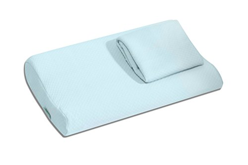 Bonmedico® Magic Pillow orthopädisches Kopf-Kissen für Kinder, mit 2x gratis für Allergiker geeignetem Milbenschutz-Bezug aus Baumwolle, schadstofffrei gemäß Oeko-Tex Standard 100 (40x26x8/6 cm)