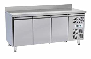 Banco nevera mesa separados a 3 puertas prof. cm. 70 de acero ...