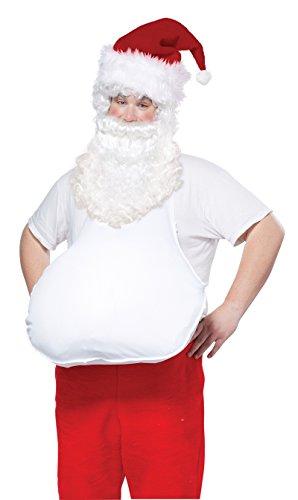 (California Costumes Men's Santa Belly, White, One)