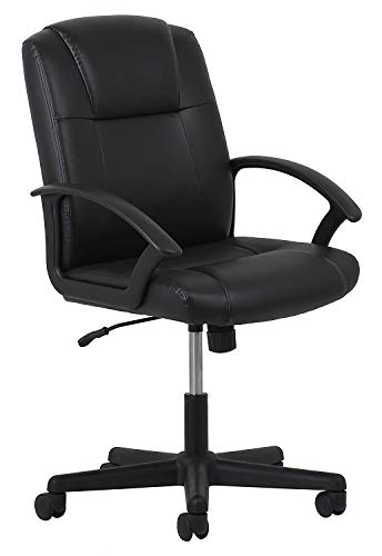 OFM Essentials Leather Executive Office/Computer Chair with Arms – Ergonomic Swivel Chair (ESS-6000) (4 Units)