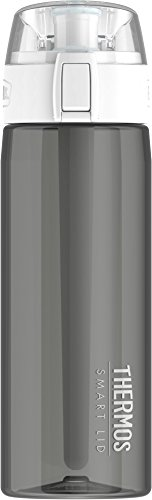 041205690771 - Thermos 24 Ounce Hydration Bottle with Connected Smart Lid, Smoke carousel main 0