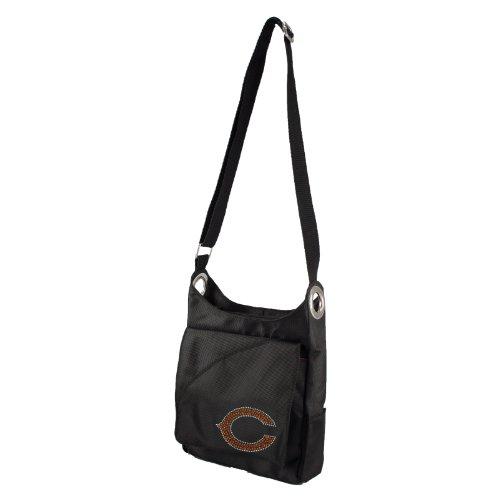 NFL Chicago Bears Sport Noir Sheen Cross-Body Purse, Black
