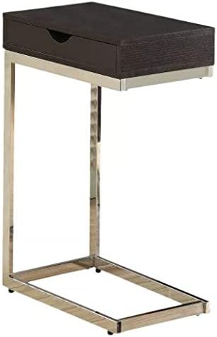 Wood and Metal Large Storage Drawer Accent Table – EveryRoom Cappuccino