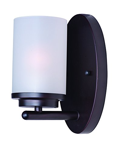Maxim 10211FTOI Corona 1-Light Wall Sconce, Oil Rubbed Bronze Finish, Frosted Glass, MB Incandescent Incandescent Bulb , 100W Max., Dry Safety Rating, Standard Dimmable, Glass Shade Material, 3450 Rated Lumens by Maxim Lighting (Image #2)