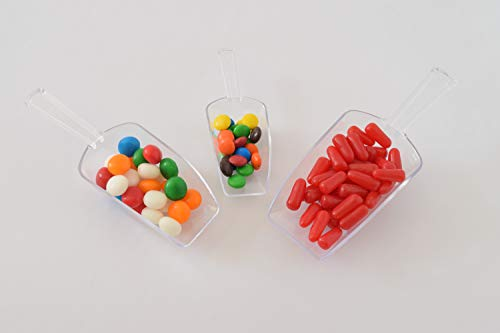 - Set of Plastic scoops 3 sizes Clear Use for Weddings, Candy, Popcorn