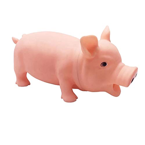 (Sunlake toys Realistic Hand Painted Toy Figurine Model-Cute Shrilling Pig Squeaky Rubber Pig Toy Relax Toy Squeeze Realistic Toy-Animal Pig Model Action Figure Doll Toy for Kids Toddlers,Collection)