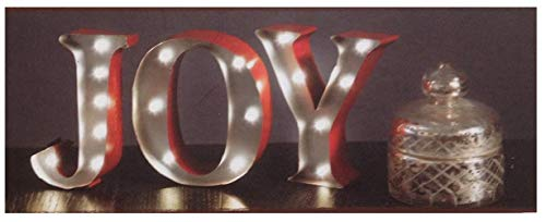JOY Metal LED MARQUEE SIGN - Bring Home the Warmth of LED Light that will brighten any area of your home. Ideal for special occasions, events, or everyday decor.