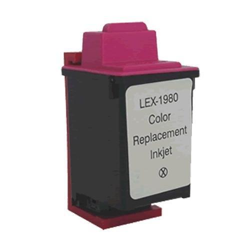 Lexmark 80 (12A1980) Tri-Color Remanufactured Inkjet/Ink Cartridge