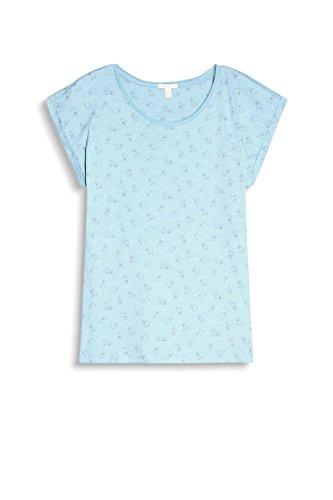 ESPRIT 047ee1k014, Camiseta para Mujer Multicolor (Light Aqua Green)