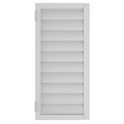Interior Plantation Shutters - Umbra Expansa Expanding Window Shutter White - 1009842-660-REM