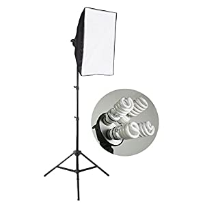 "StudioFX 800 Watt Large Photography Softbox Continuous Photo Lighting Kit 16"" x 24"" by Kaezi H9004S-1"