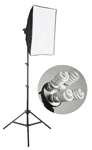 StudioFX 800 Watt Large Photography Softbox Continuous Photo Lighting Kit 16″ x 24″ by Kaezi H9004S-1