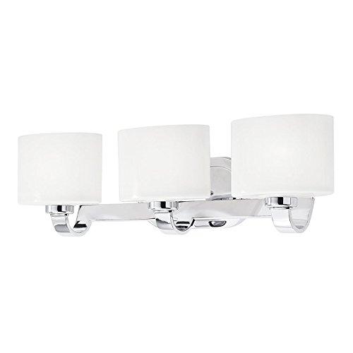 kichler lighting 3 light chrome standard bathroom vanity light