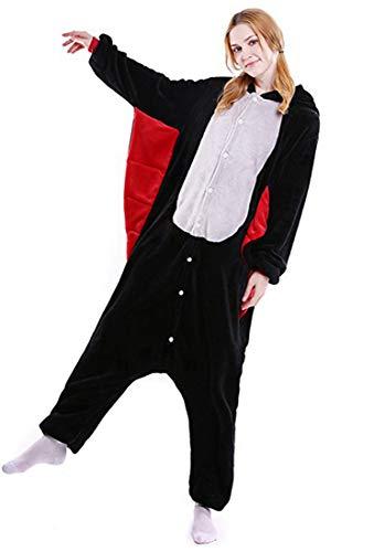 Pipistrello Unisex Halloween Adulti Pipistrello Costume Cosplay Pigiama Animale Kigurumi Carnevale FRqazdSF