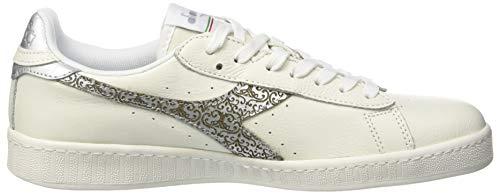 bianco Multicolore argento C0516 Donna Sportive Game Diadora Scarpe Wn XFqwYxHB