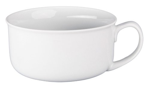 BIA Cordon Bleu Oversized Jumbo White Soup Bowl with Handle, 20 Ounce (Bleu Soup)