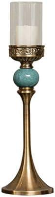 クリエイティブ瑪瑙ローソク足デコレーションメタルピラーホルダーキャンドルライトディナーサイドボード実用キャンドル燭台の結婚式クリスマスホームデコレーション (Size : 1)