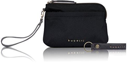 Nailon Elegante Bugatti De Contratempo Maquillaje Negro Mujer En Bolso zqIFIY