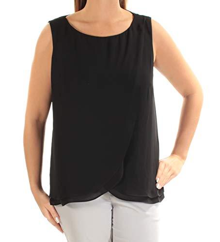 (Lauren Ralph Lauren Women's Sleeveless Georgette Top-PB-L Polo Black)