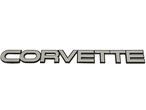 Rear Bumper Emblem (1984-1990 Corvette Rear Bumper Emblem Silver Finish)