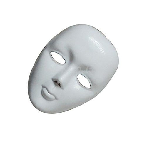 [Roto - Scary White Face Halloween Masquerade DIY Mime Mask Ball Party Costume Masks] (Halloween Costume Mime Face)