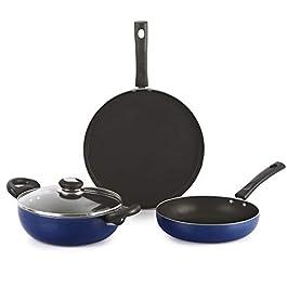 Cello Kitchenette Prima Non Stick Cookware, Set of 3, Blue