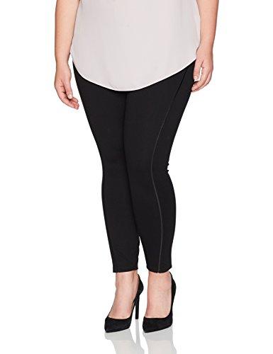 Lyssé Women's Plus Size Nina Inset Legging, Black, 2X by Lyssé